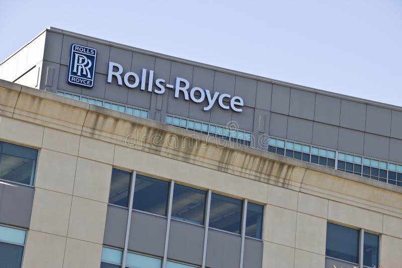 INDIANAPOLIS - CERCA DO OUTUBRO DE 2015: Rolls royce Corporaçõ, Indianapolis, em II fotografia de stock royalty free