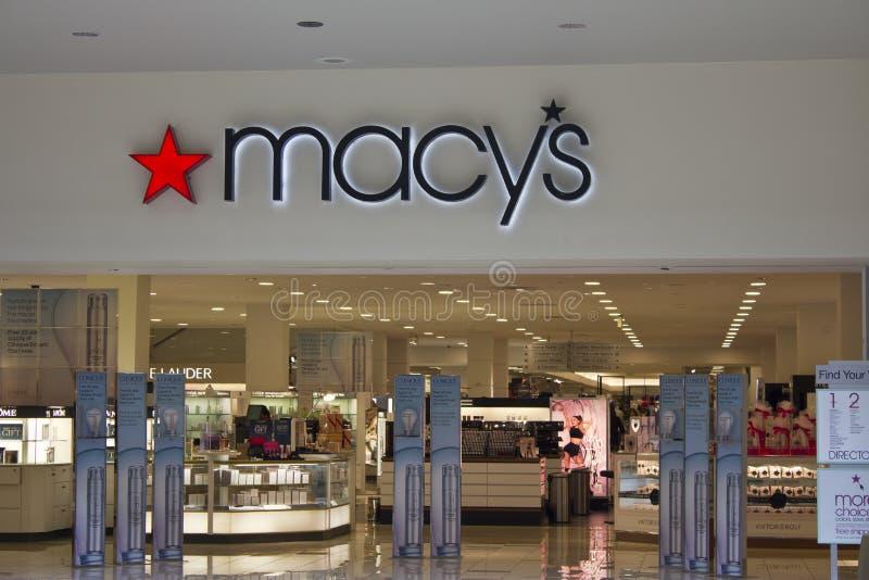 Indianapolis - circa febbraio 2016: Grande magazzino di Macy immagine stock libera da diritti