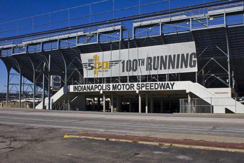 Indianapolis - circa febrero de 2016: Indianapolis Motor Speedway II foto de archivo libre de regalías