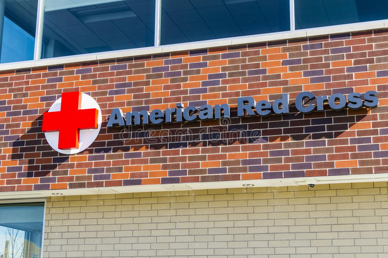 Indianapolis - Circa February 2017: American Red Cross Disaster Relief HQ. The American Red Cross provides emergency help IV stock photo