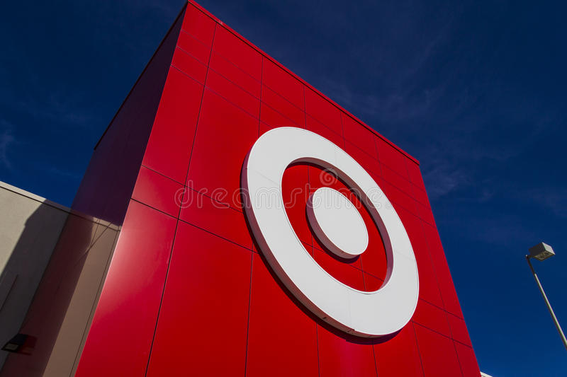Indianapolis - Circa February 2017: Target Retail Store. Target Sells Home Goods, Clothing and Electronics X. Target Retail Store. Target Sells Home Goods royalty free stock image