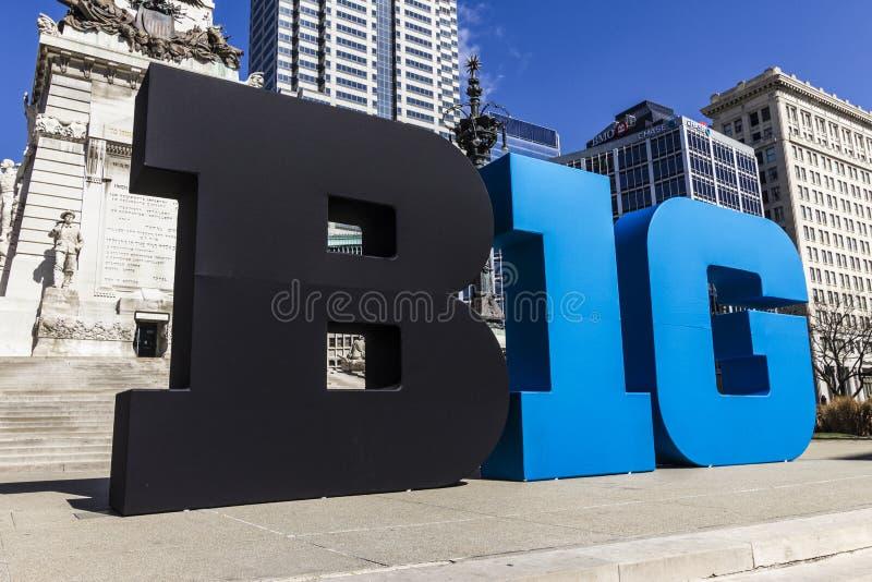 Indianapolis - circa im März 2017: Das große Logo mit zehn Konferenzen stilisierte auch als die großen 10 oder das B1G in im Stad stockfotografie