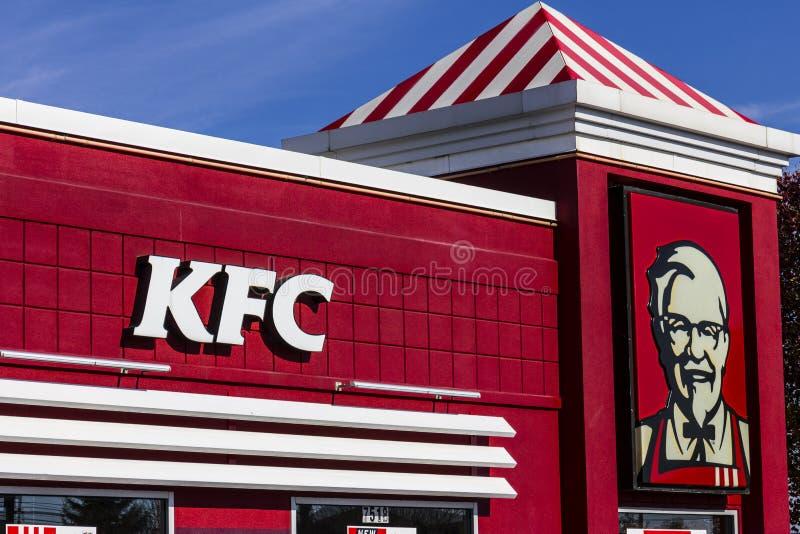 Indianapolis - circa im November 2016: Standort Kentuckys Fried Chicken Retail Fast Food KFC ist eine Tochtergesellschaft von Yum lizenzfreie stockbilder
