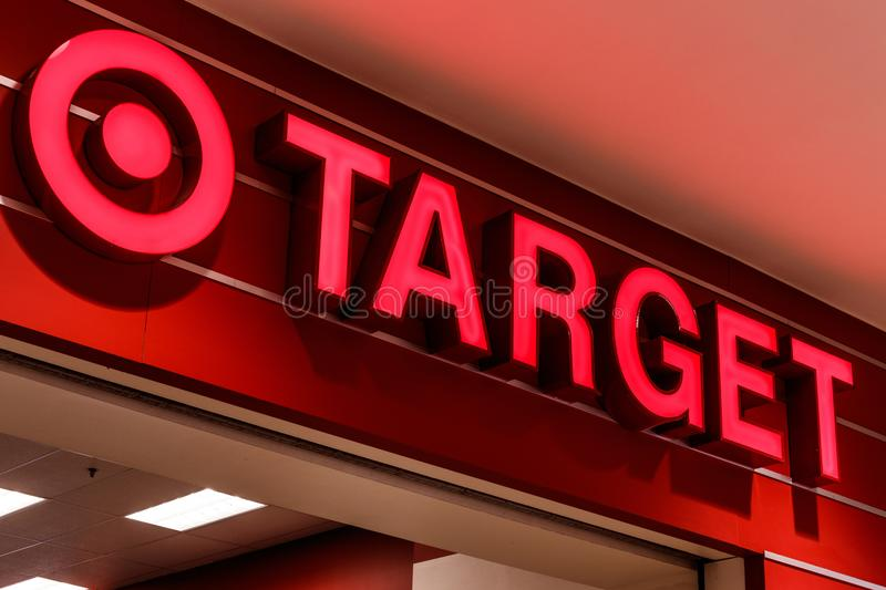 Indianapolis - Circa July 2018: Target Retail Store. Target Sells Home Goods, Clothing and Electronics IV. Target Retail Store. Target Sells Home Goods, Clothing stock photo