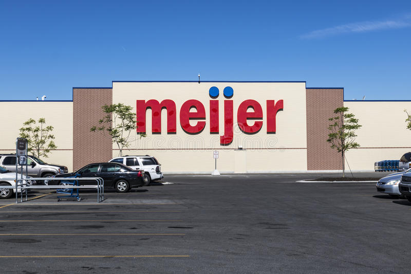 Indianapolis - Circa June 2017: Meijer Retail Location. Meijer is a large supercenter type retailer with over 200 locations II. Meijer Retail Location. Meijer is stock image