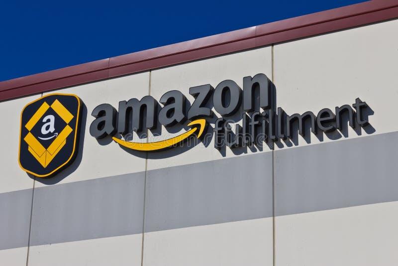 Indianapolis - Circa Maart 2016: Amazonië Com-Vervullingscentrum stock foto