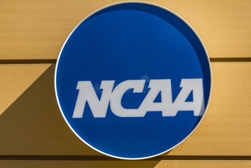 Indianapolis - Circa mars 2017: Nationella högkvarter för college- idrotts- anslutning Ncaaen reglerar högskolafriidrott V royaltyfria foton