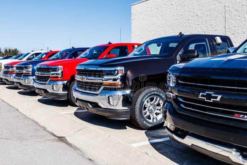 Indianapolis - circa marzo 2018: Camion di Chevrolet a Chevy Dealership Chevrolet è una divisione di General Motors VII fotografia stock