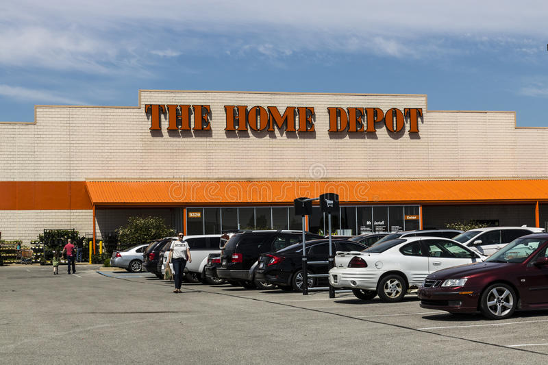 Indianapolis - Circa May 2017: Home Depot Location. Home Depot is the Largest Home Improvement Retailer in the US V. Home Depot Location. Home Depot is the royalty free stock images