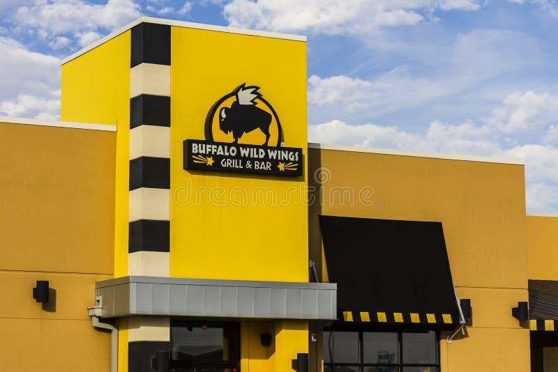 Indianapolis - Circa November 2016: Buffalo Wild Wings Grill and Bar Restaurant IV. Buffalo Wild Wings Grill and Bar Restaurant. You Can Find Live Sports, Wings royalty free stock photography