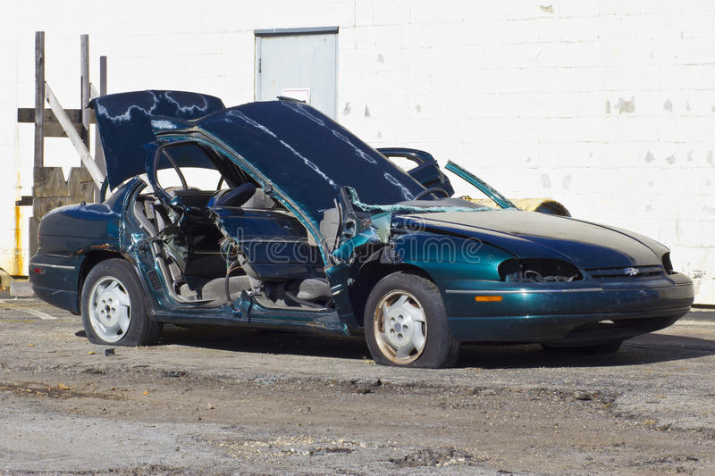 Indianapolis - Circa November 2015: Totaled Automobile After Drunk Driving Accident IV royalty free stock photos