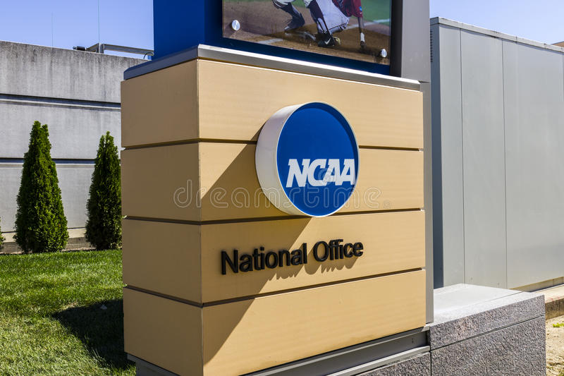 Indianapolis - Circa October 2016: National Collegiate Athletic Association Headquarters. The NCAA regulates athletic programs III royalty free stock images