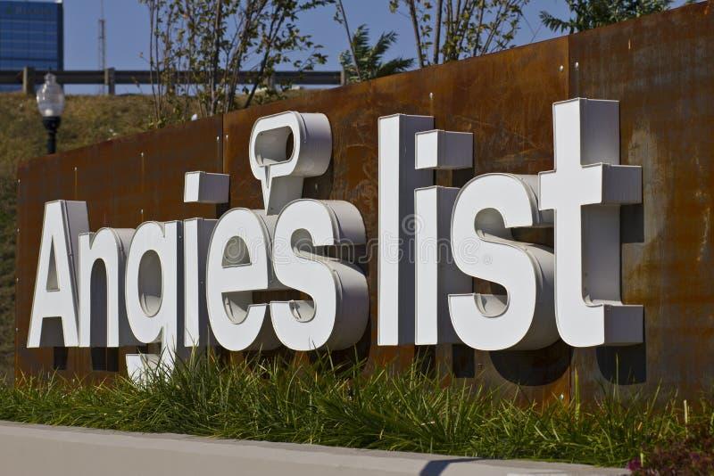 INDIANAPOLIS - CIRCA OTTOBRE 2015: Ufficio corporativo e sedi della lista di Angies fotografia stock libera da diritti