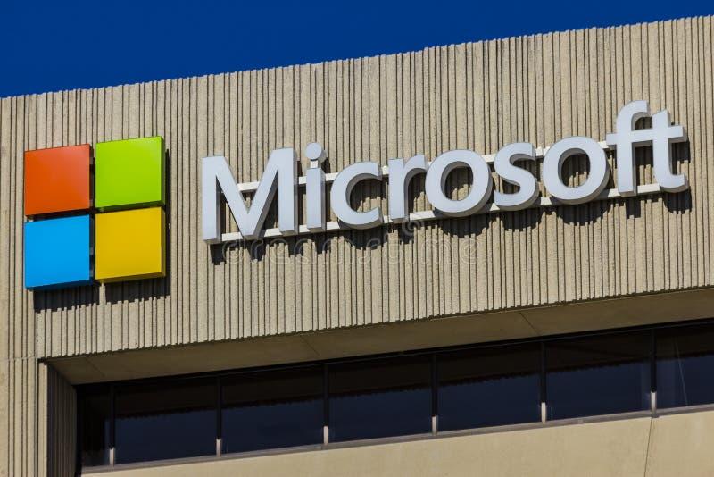 Indianapolis - Circa September 2017: Het Districtshoofdkwartier IX van Microsoft Midwesten stock afbeeldingen