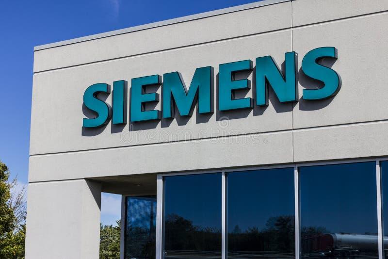 Indianapolis - Circa September 2016: Siemens byggnadsteknologier Siemens använder ungefärligt 362.000 personer över hela världen  arkivbilder
