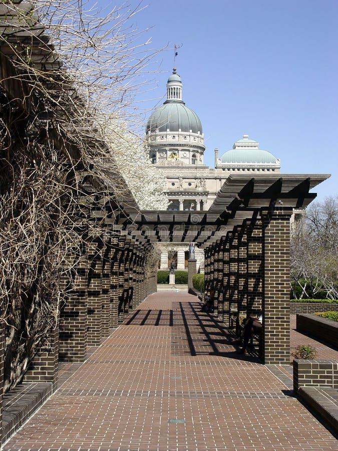 Indianapolis, de Bouw van het Capitool stock afbeelding