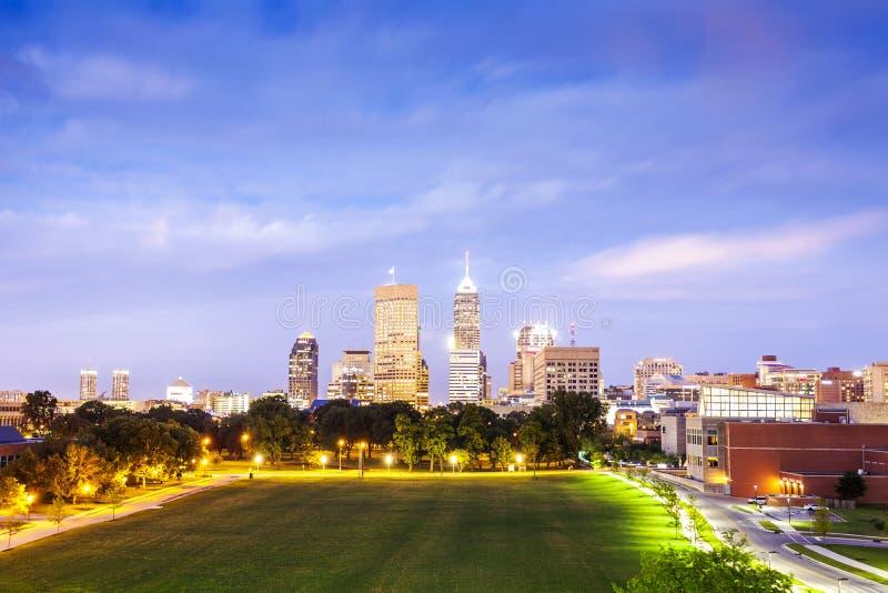 Indianapolis do centro, Indiana, EUA foto de stock royalty free