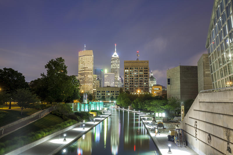 Indianapolis Downtown, Indiana, USA. Downtown of Indianapolis, Indiana, USA royalty free stock images