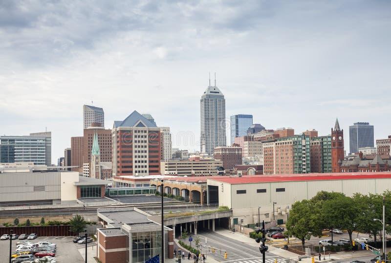 Indianapolis im Stadtzentrum gelegen, Indiana, USA stockfotos