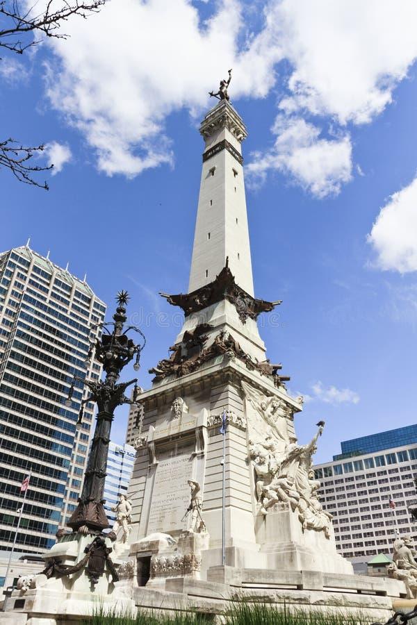 Indianapolis, Indiana - monumento famoso de Saint e dos marinheiros fotos de stock royalty free