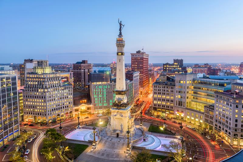 Indianapolis Indiana, USA royaltyfri foto