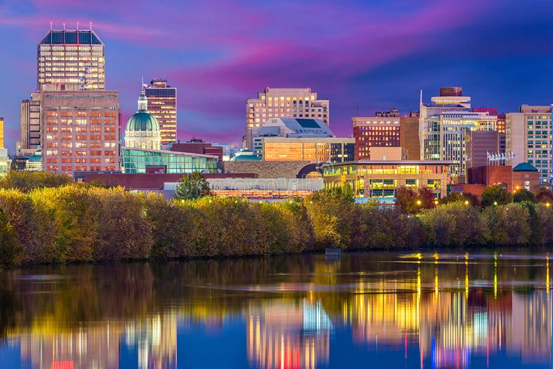 Indianapolis, Indiana, usa linia horyzontu obrazy stock