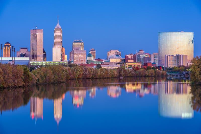 Indianapolis, Indiana, usa linia horyzontu fotografia royalty free