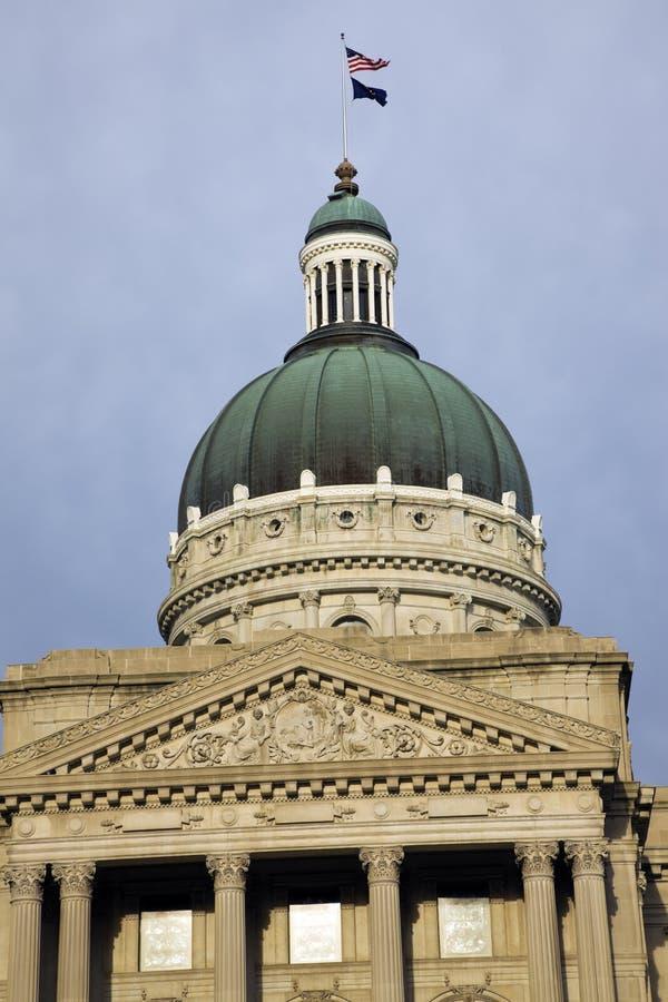 Indianapolis, Indiana - Zustand-Kapitol lizenzfreies stockbild