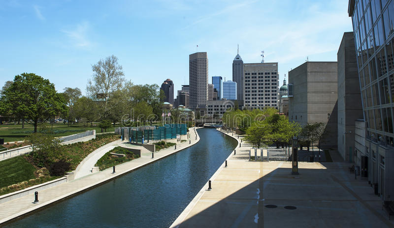 Indianapolis kanał zdjęcia royalty free