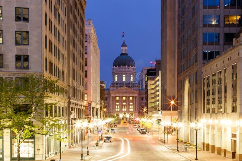 Indianapolis-Morgen lizenzfreie stockbilder