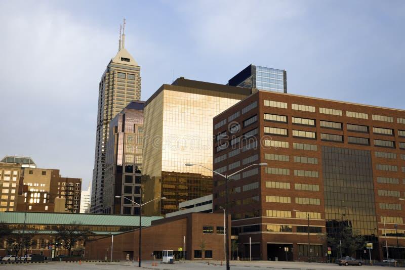 Indianapolis morgens lizenzfreie stockbilder