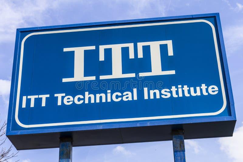 Indianapolis - Około Listopad 2016: ITT usługa Edukacyjna lokacja ITT Techniczny instytut zamykał wszystkie swój kampusy III zdjęcie royalty free