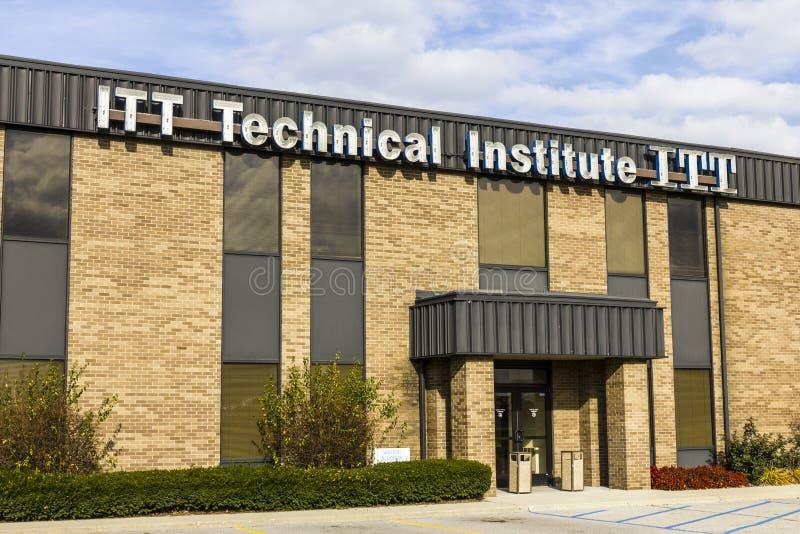 Indianapolis - Około Listopad 2016: ITT usługa Edukacyjna lokacja ITT Techniczny instytut zamykał wszystkie swój kampusy IV obraz stock