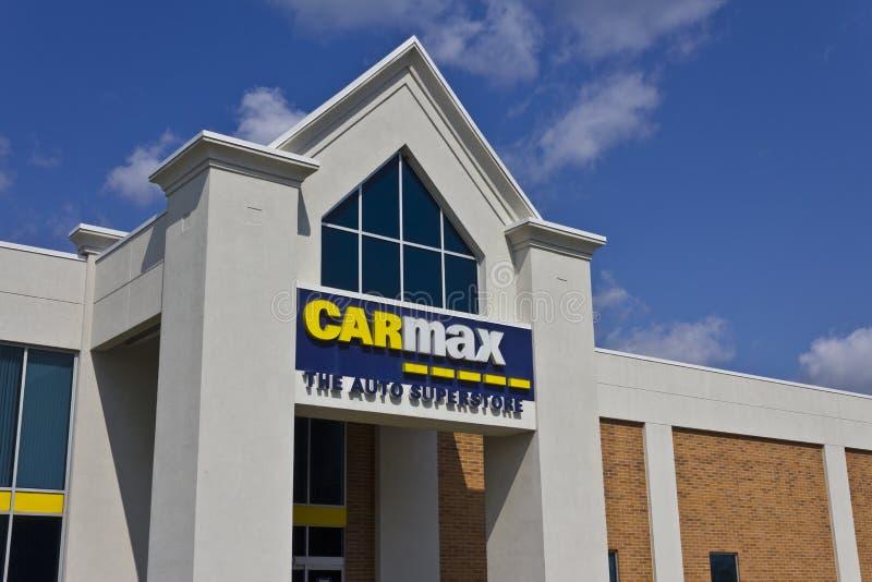 Indianapolis - Około Maj 2016: CarMax Auto przedstawicielstwo handlowe Ja obraz stock