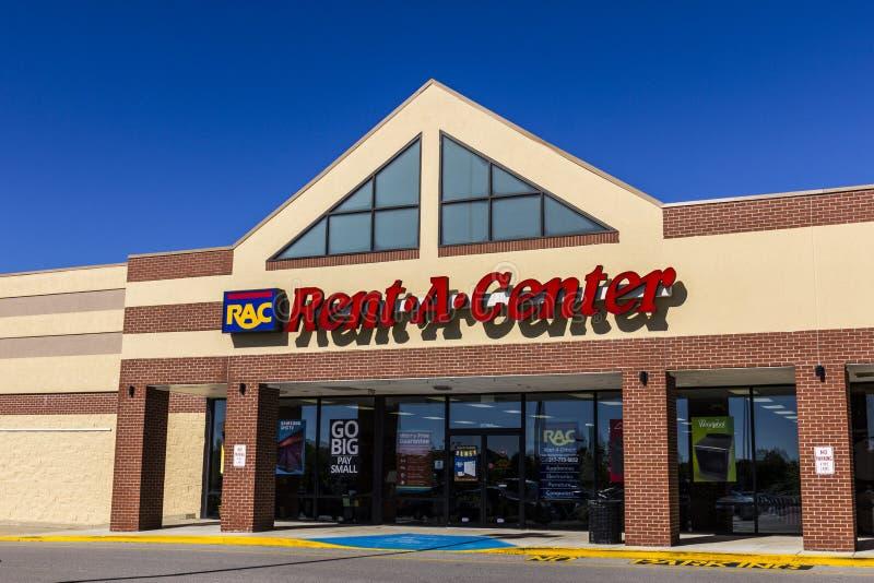 Indianapolis - Około Sierpień 2016: centrum konsumenta handlu detalicznego lokacja RAC Zapewnia czynsz Swój elektronika i meble I fotografia stock