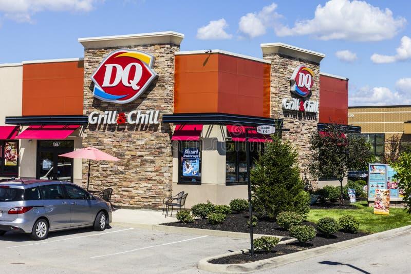 Indianapolis - Około Sierpień 2016: Nabiał królowej handlu detalicznego fasta food lokacja DQ jest filią Berkshire Hathaway III obrazy royalty free