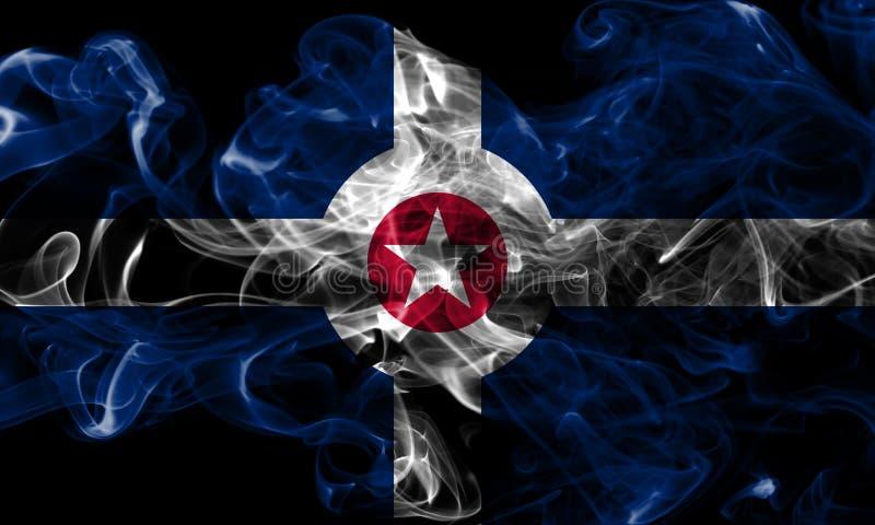 Indianapolis-Stadtrauchflagge, Indiana State, Vereinigte Staaten von morgens lizenzfreies stockbild