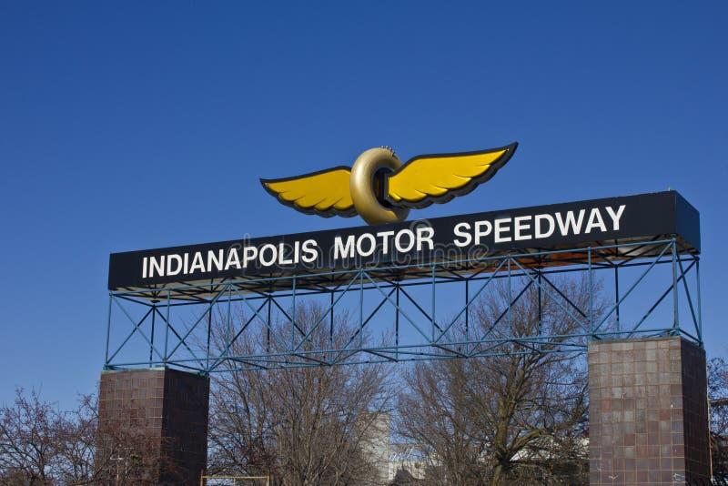 Indianapolis - vers en février 2016 : Indianapolis Motor Speedway III photos stock