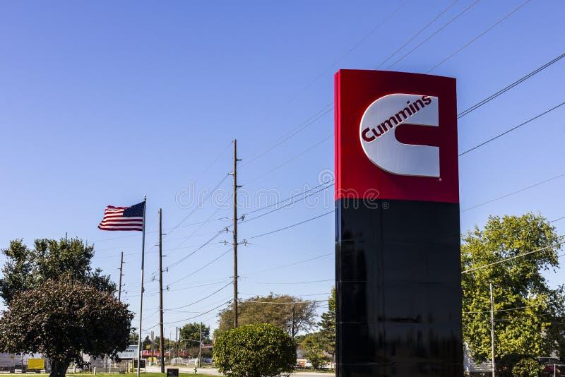Indianapolis - vers en octobre 2016 : Cummins Inc est un fabricant de l'équipement IV de moteurs et de production d'électricité photographie stock libre de droits