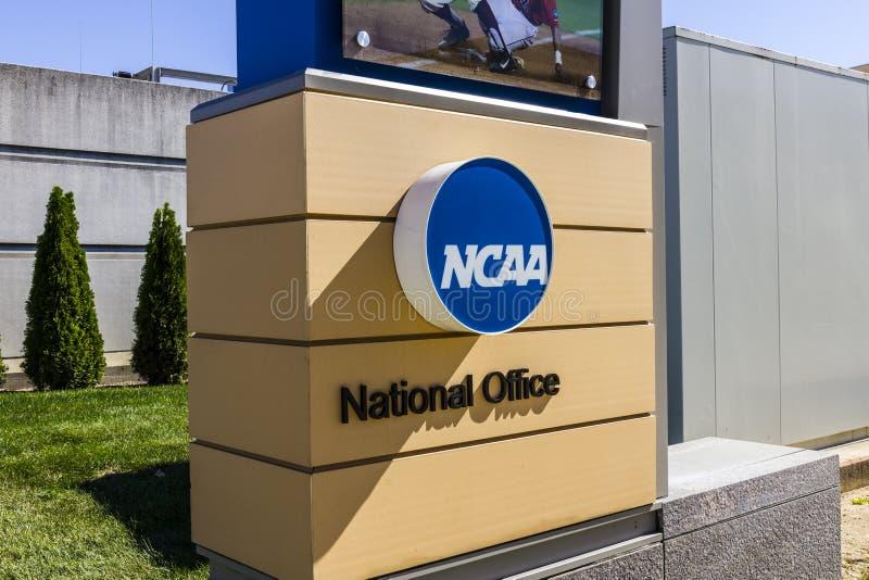 Indianapolis - vers en octobre 2016 : Sièges sociaux nationaux d'association sportive collégiale Le NCAA règle des programmes spo images libres de droits