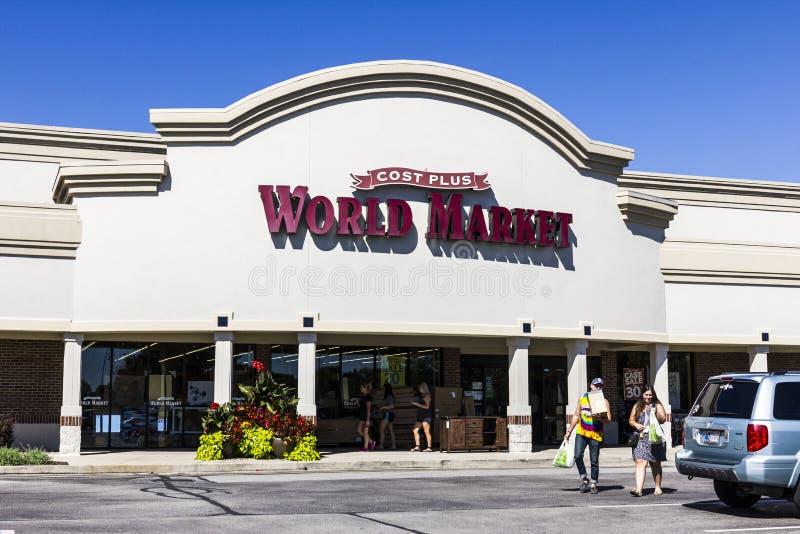Indianapolis - vers en septembre 2016 : Emplacement I de vente au détail du marché mondial de coût majoré image stock