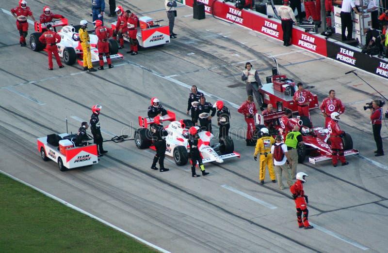 Indianapolis wyścigu samochodów serii fotografia stock