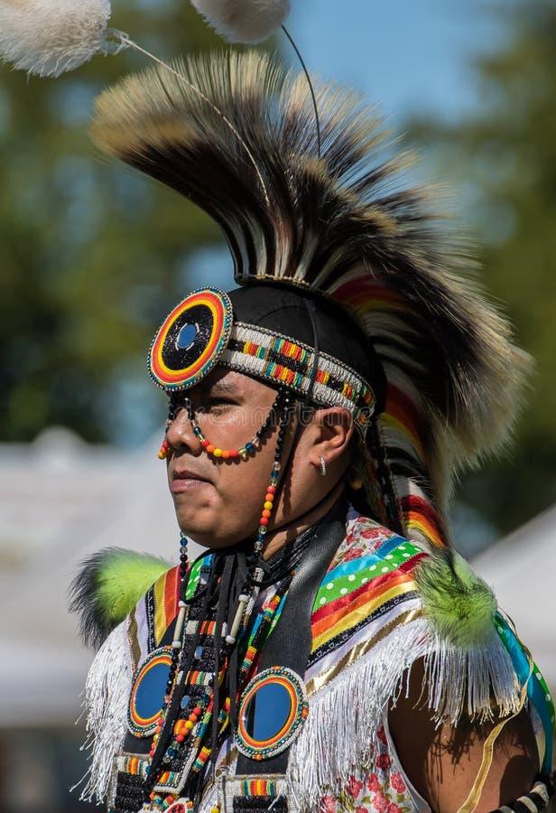 Indiandansare på enöverraska royaltyfri bild