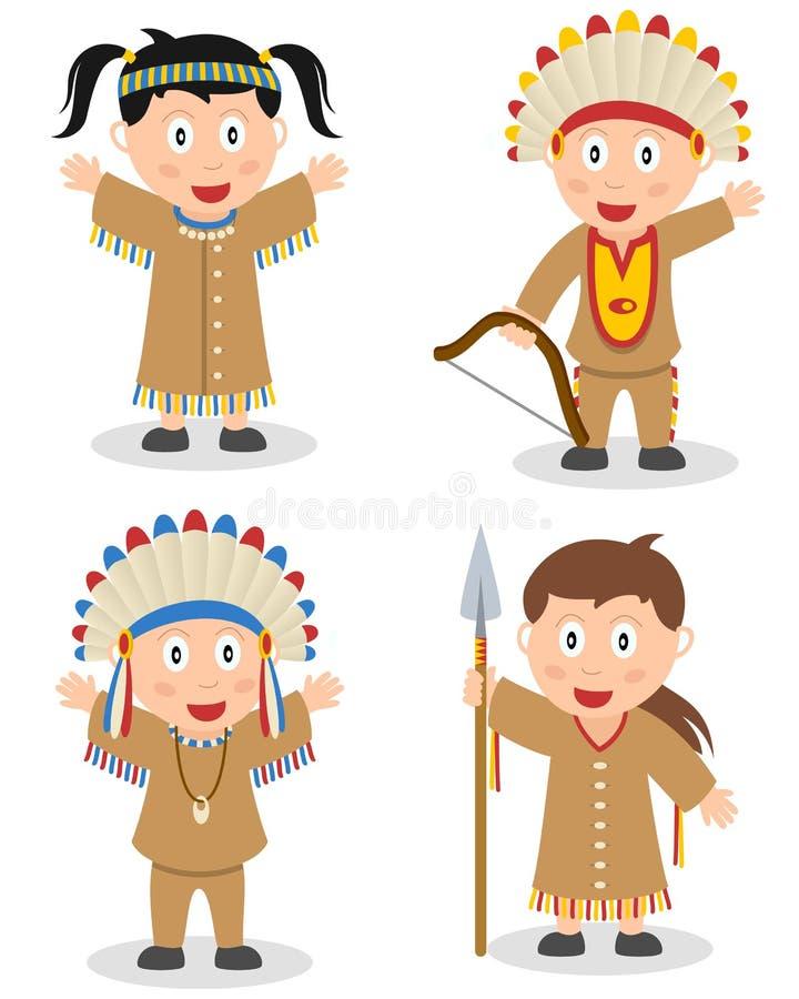 Indianer scherzt Sammlung stock abbildung