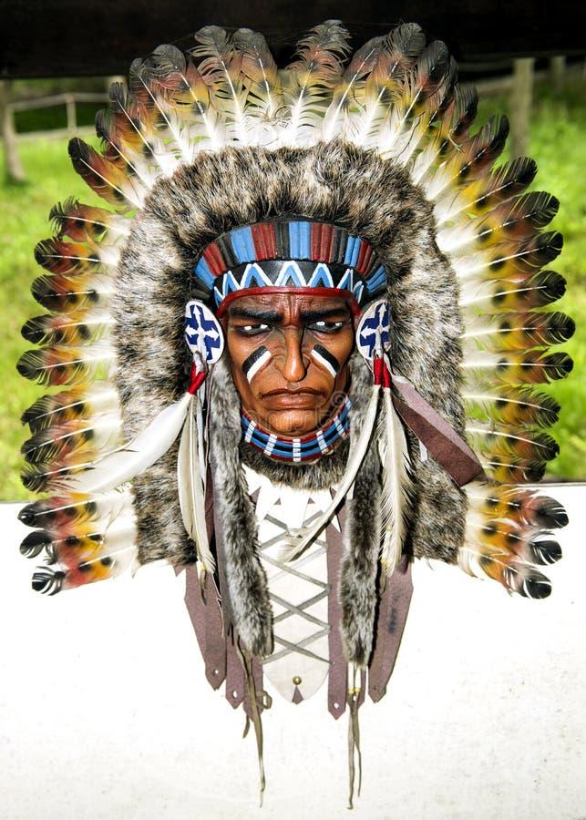 Indianhuvudbonad arkivbild