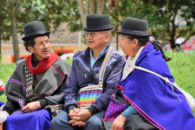 Indiani di Guanbano in Silvia Market, Colombia fotografia stock libera da diritti