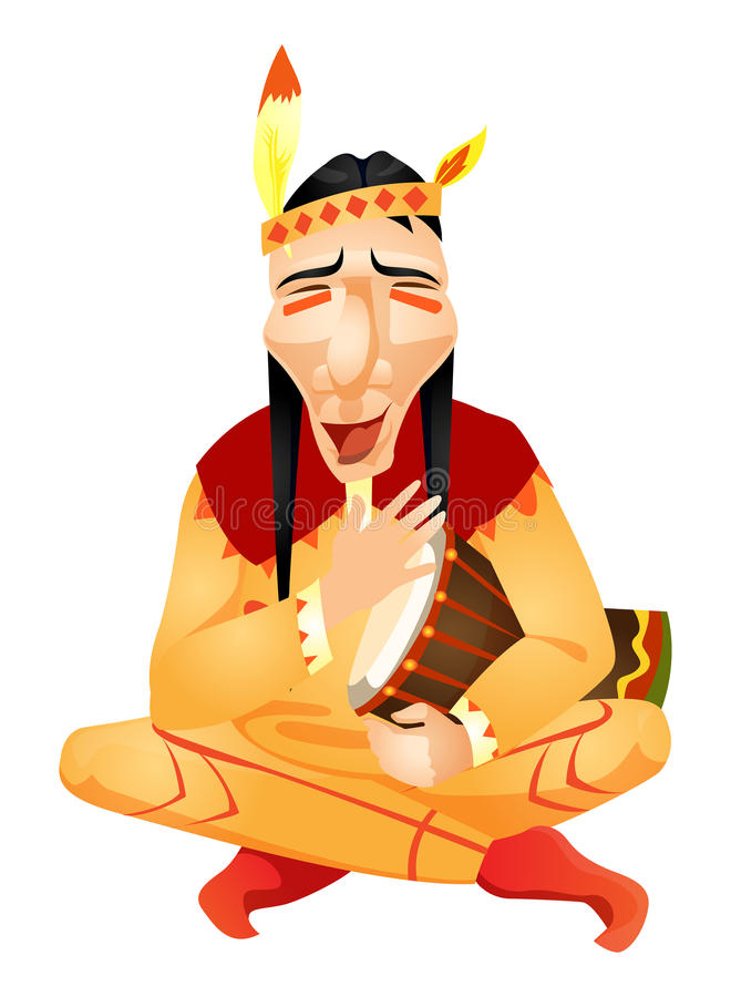 Indianin royalty ilustracja