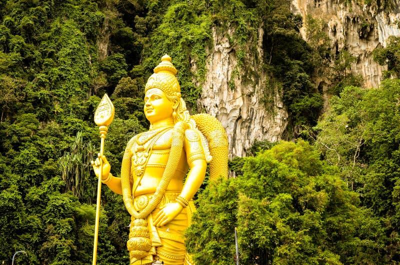 Indianin Buddha przy Batu Jaskiniowy Kuala Lumpur Malezja fotografia royalty free