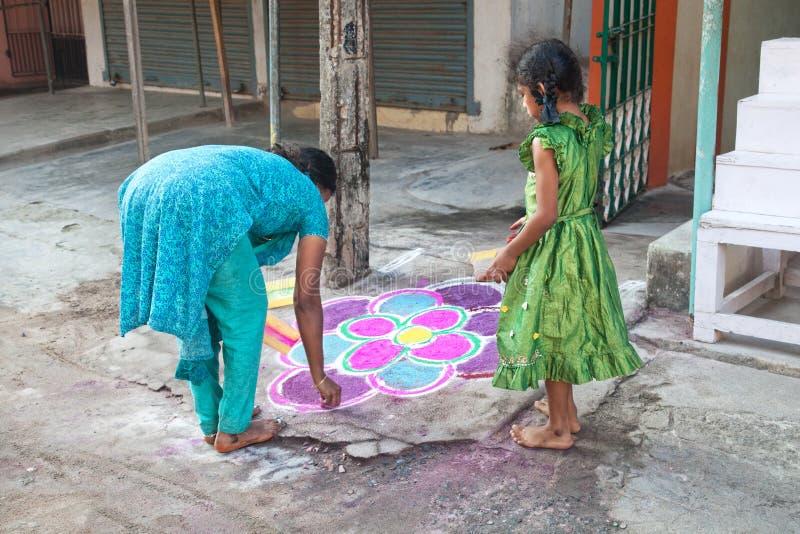 Indianin córki i matki obrazu mandala obrazy royalty free