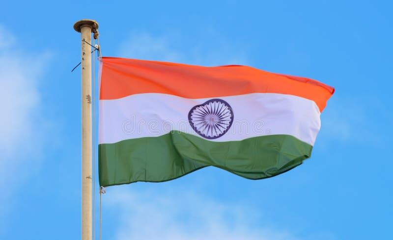 Indianin flaga zdjęcia stock